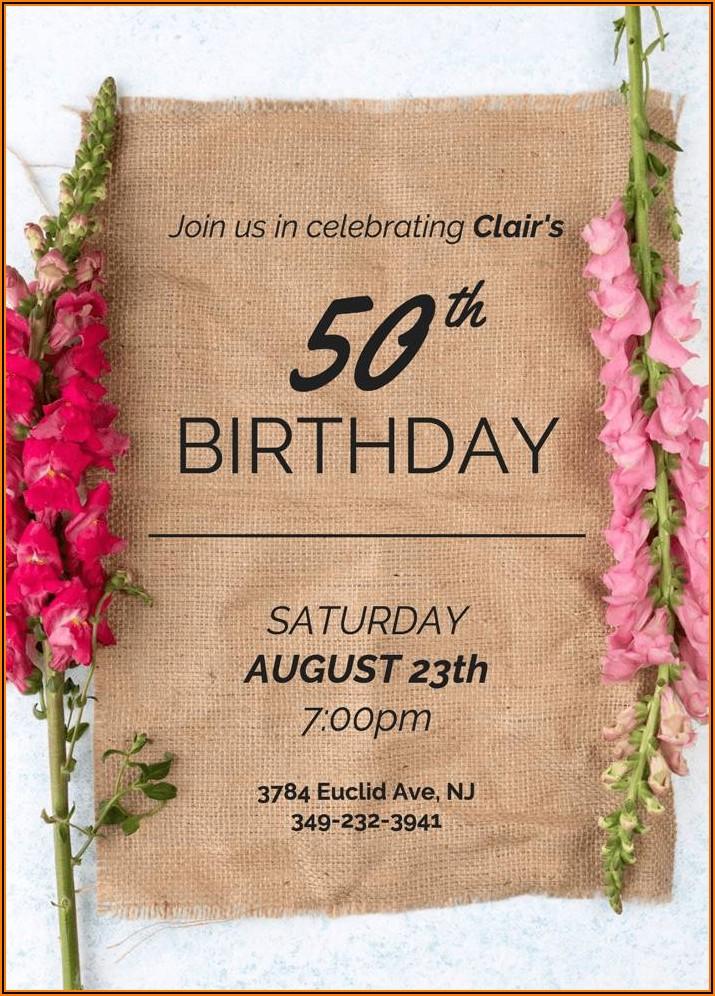 Formal Birthday Invitation Message