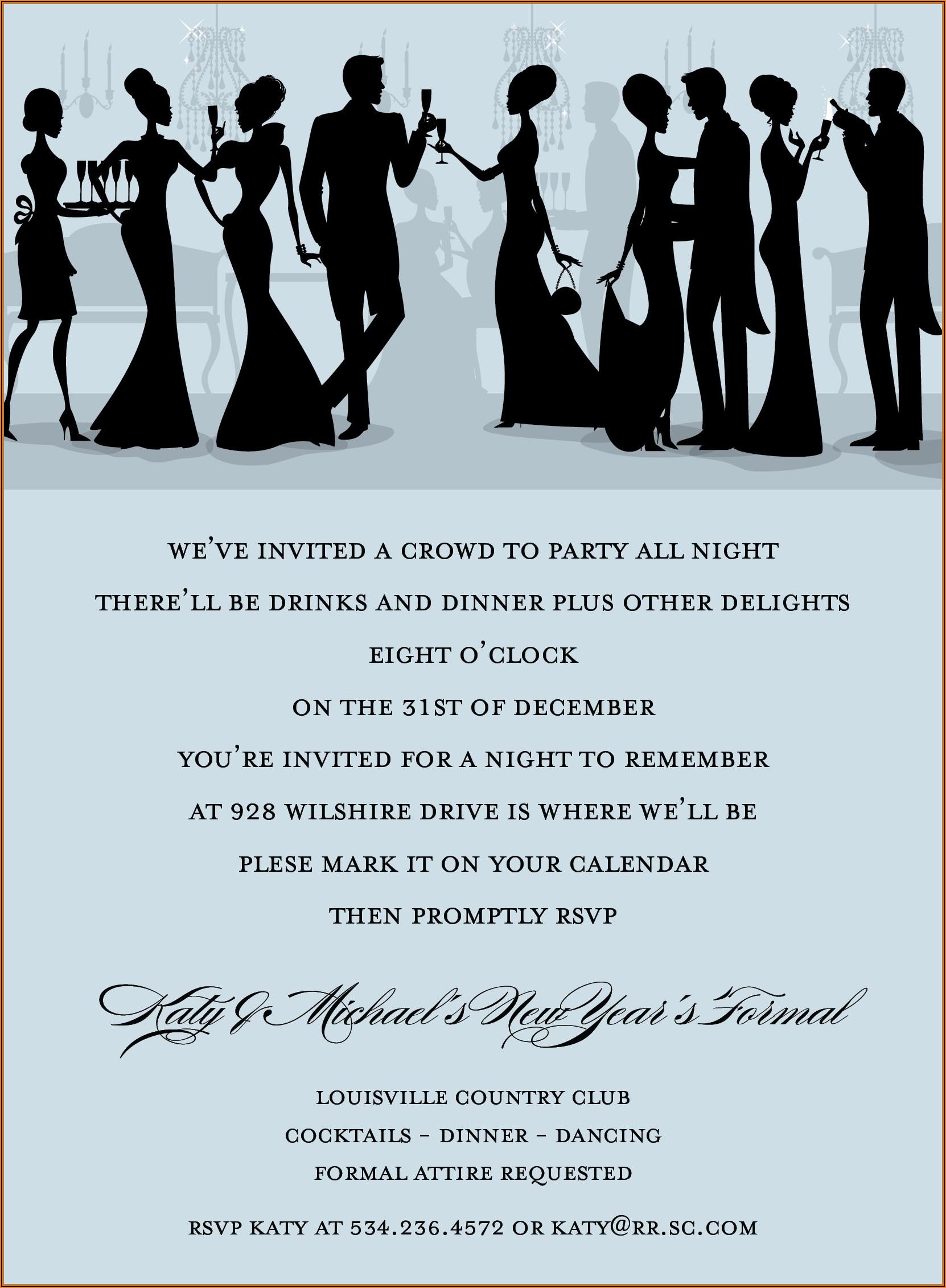 Formal Birthday Invitation Sample