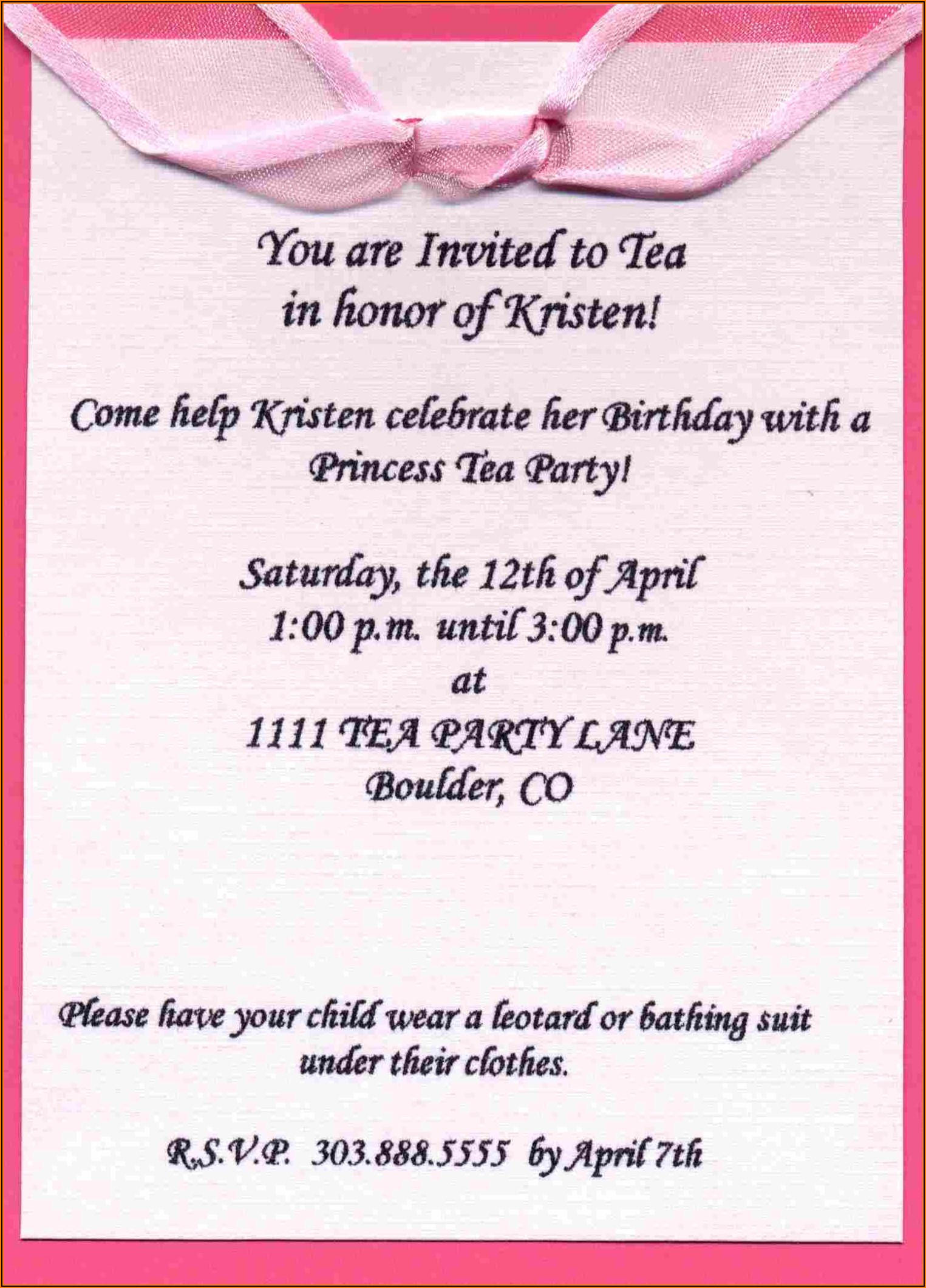 Formal Birthday Invitation Wording For Adults