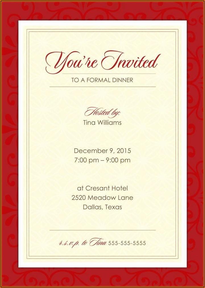 Formal Birthday Invitation Wording