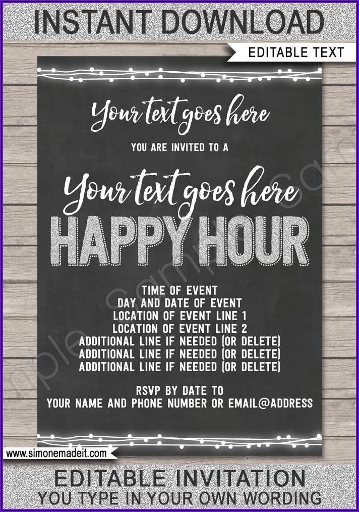 Formal Birthday Invite Template