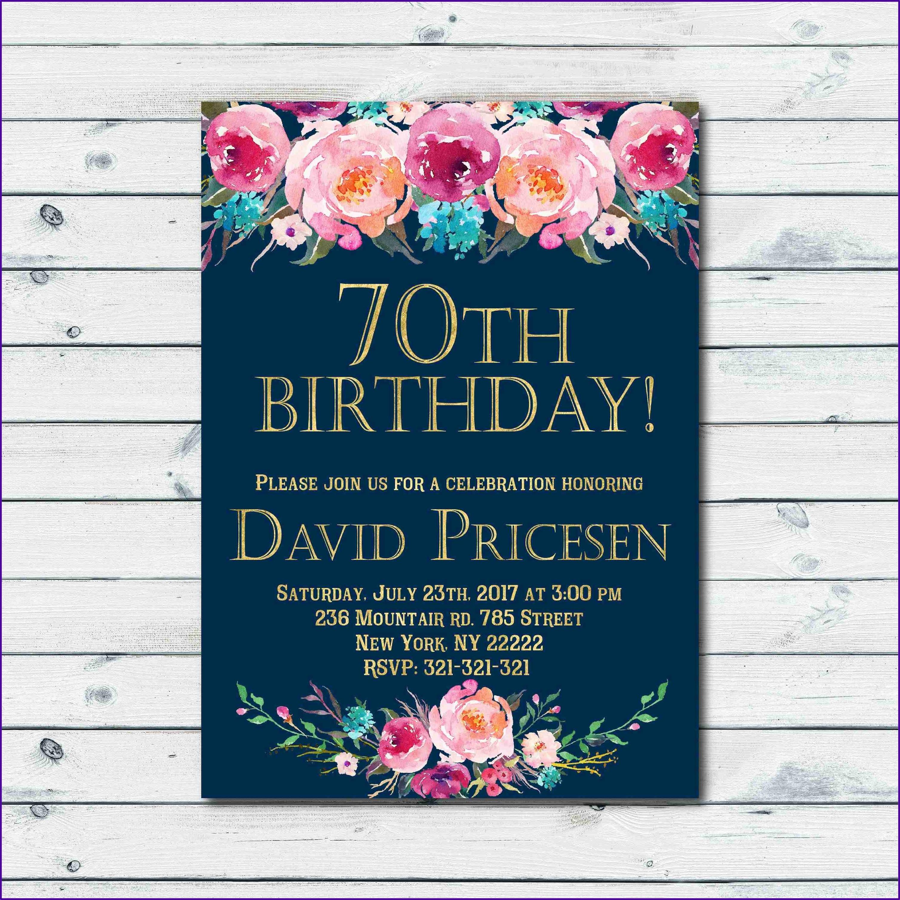 Formal Birthday Invite Wording