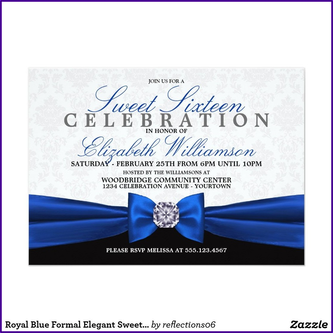 Formal Sweet 16 Invitations