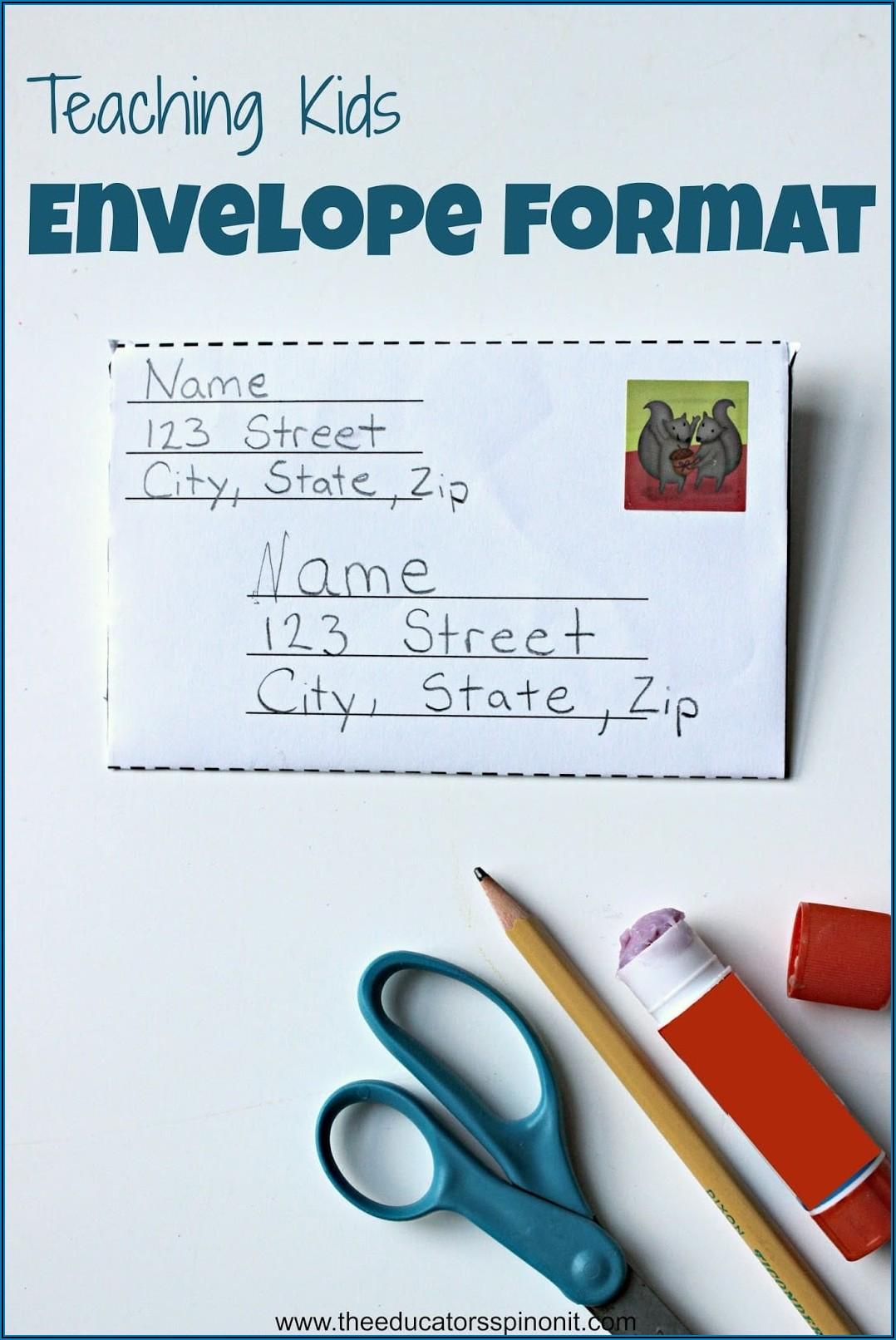 Format For Addressing Envelopes