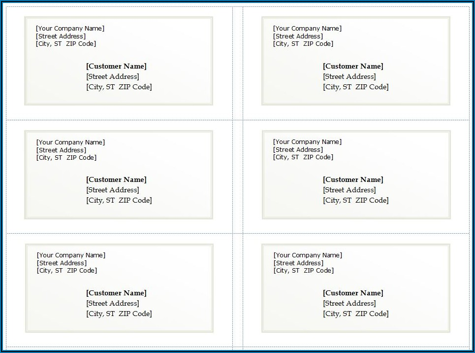 Free Address Labels Templates Word