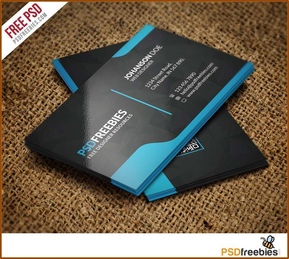 Free Business Card Templates Psd Download