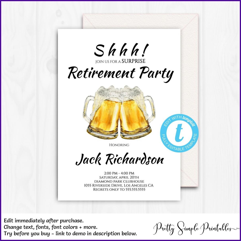 Free Editable Retirement Invitations