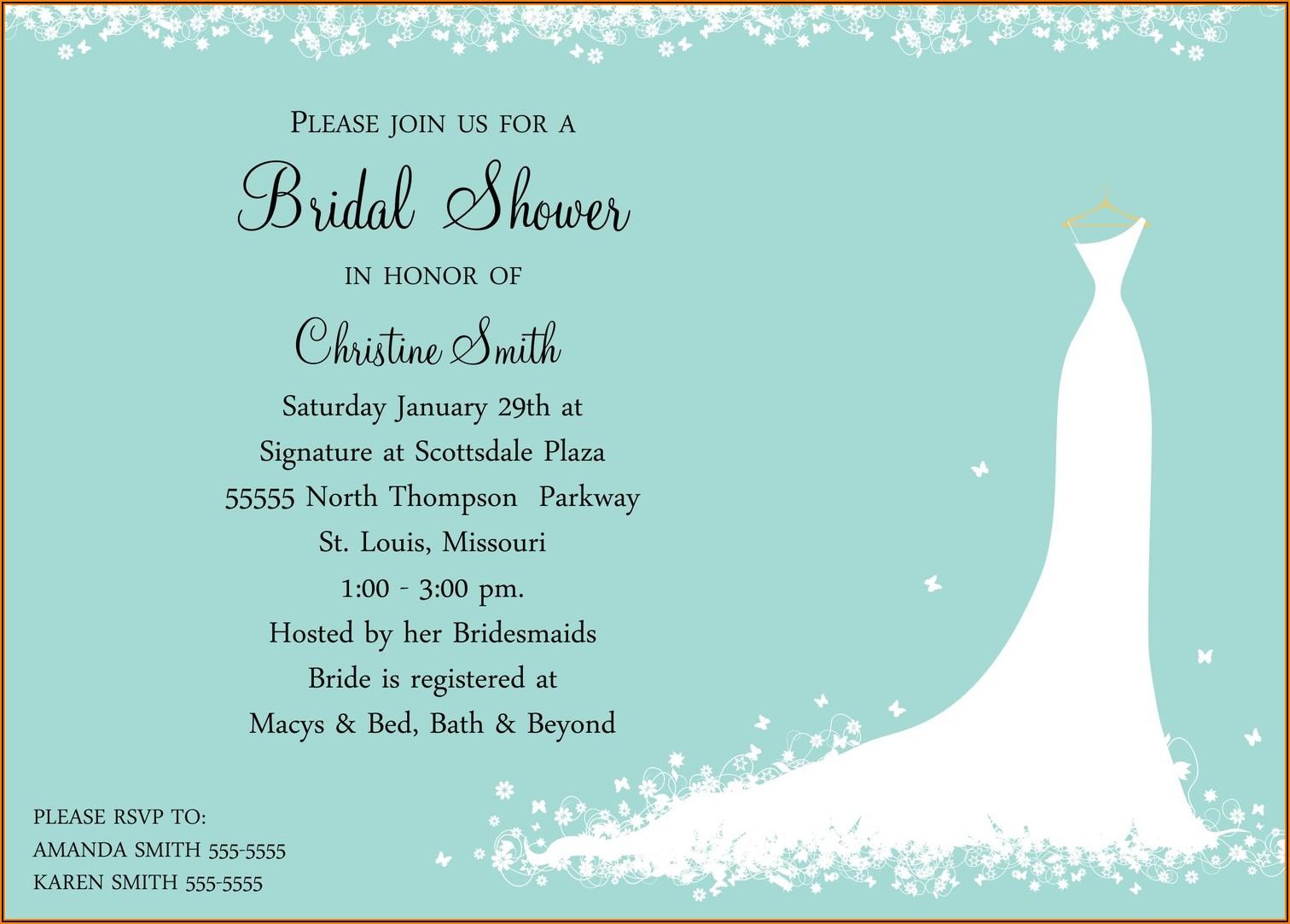 Free Evite Wedding Shower Invitations