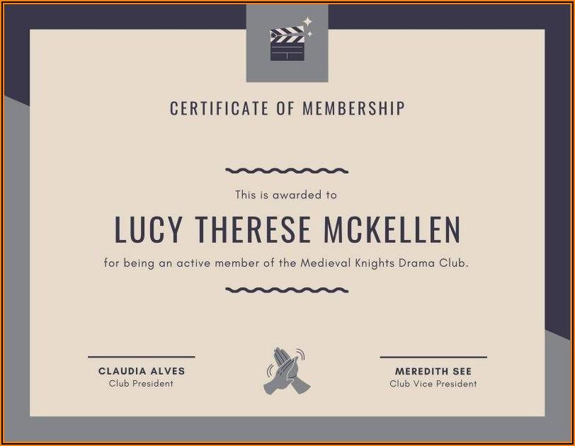 Free Honorary Life Membership Certificate Template
