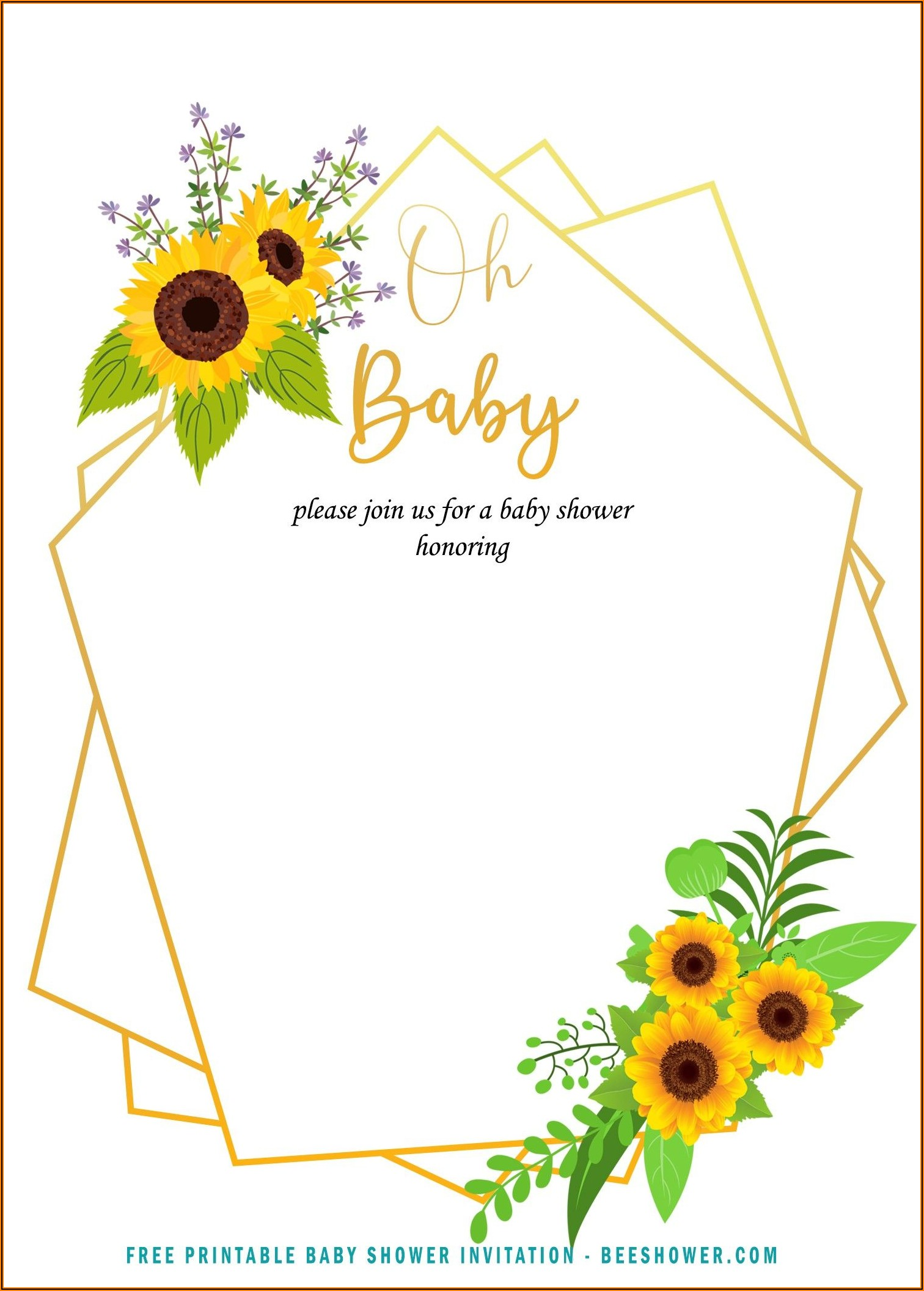 Free Online Baby Shower Invitation Template