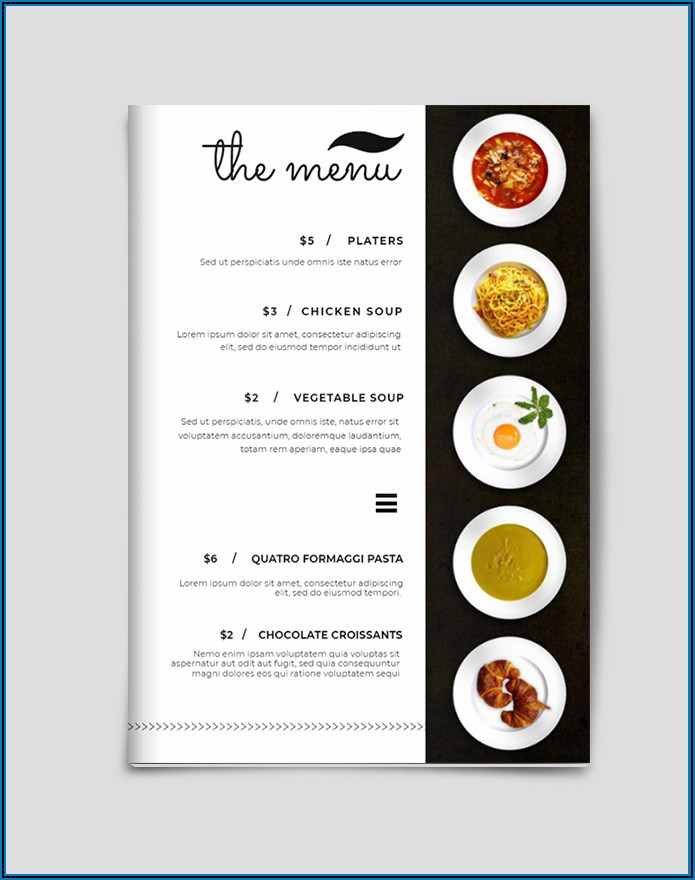 Free Online Catering Menu Templates