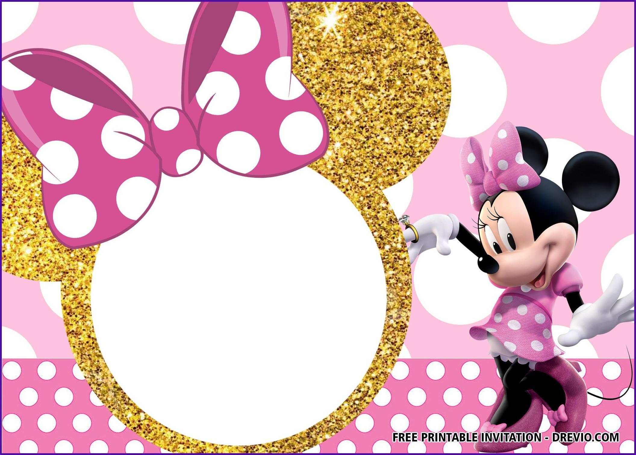 Free Online Editable Minnie Mouse Invitations