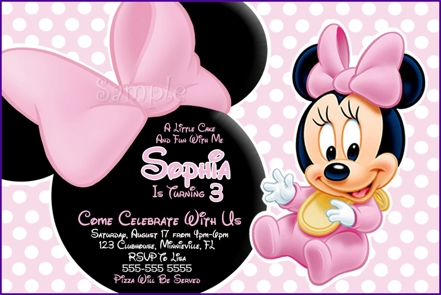 Free Online Minnie Mouse Invitations