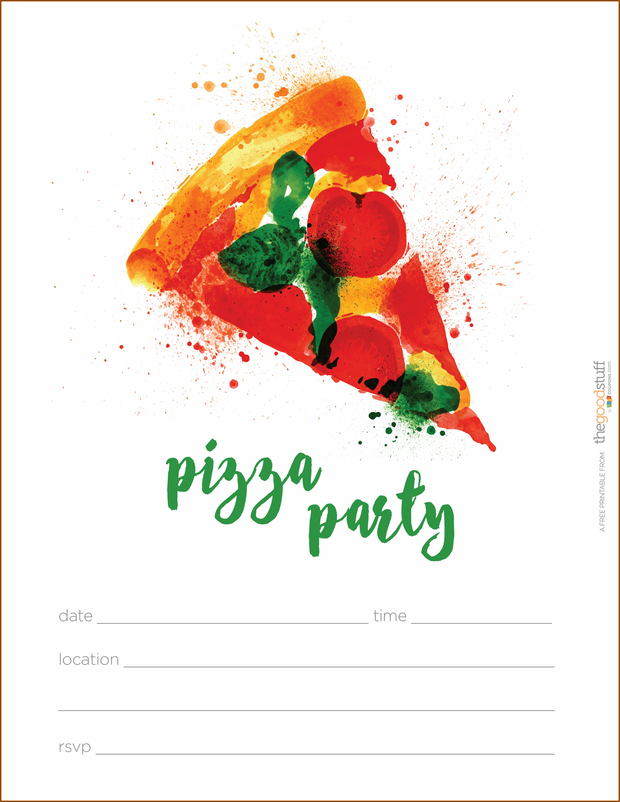 Free Pizza Lunch Invitation Template