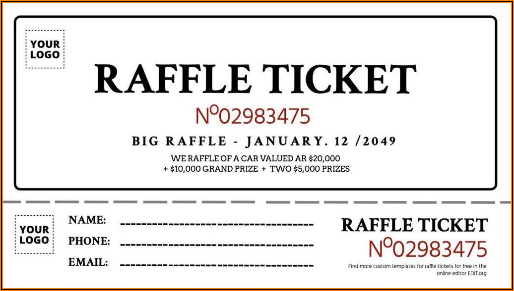 Free Printable Banquet Ticket Template