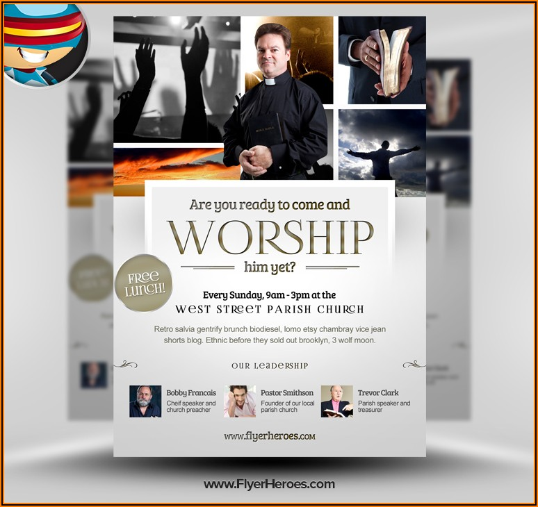 Free Printable Church Event Flyer Templates