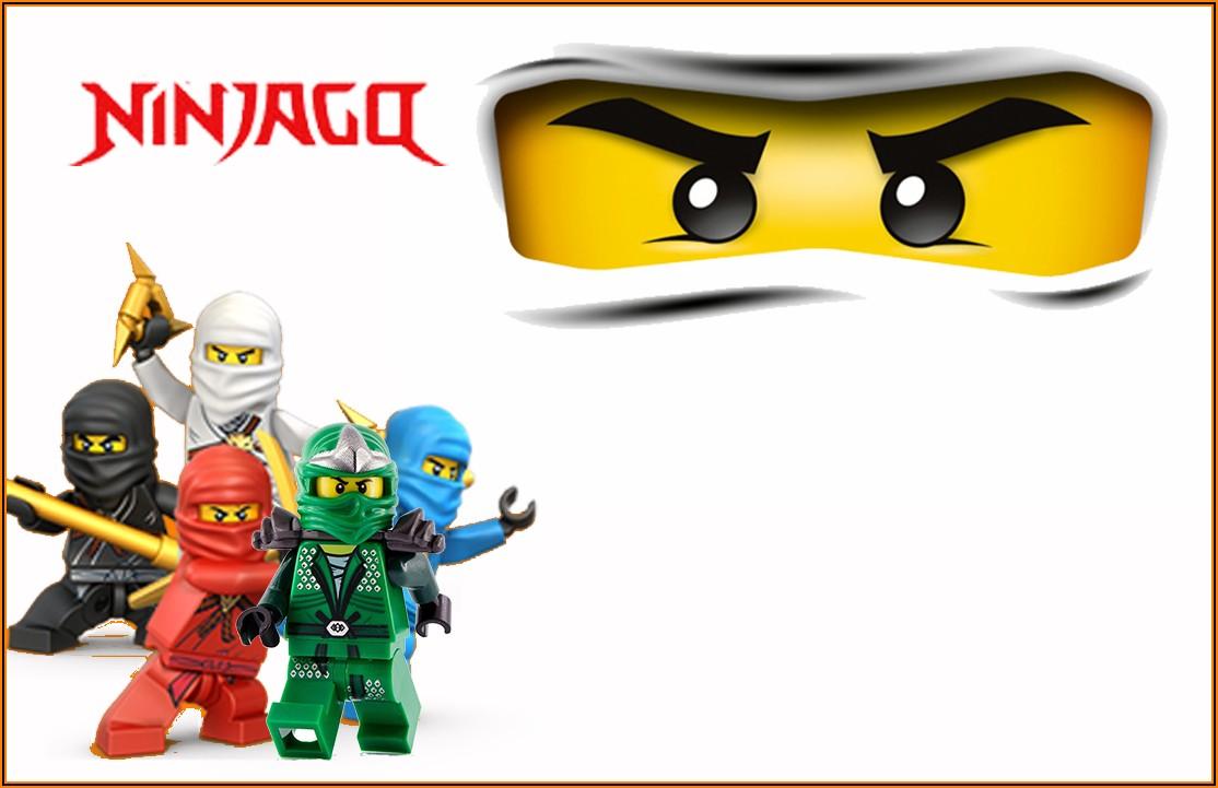 Free Printable Lego Ninjago Birthday Party Invitations