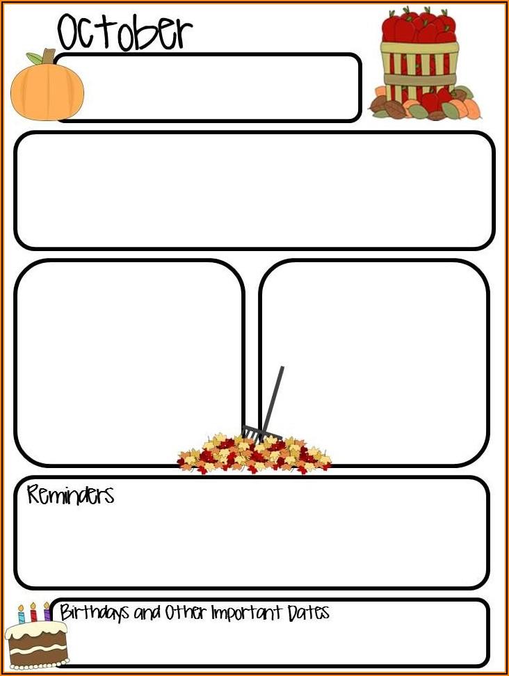 Free Printable Newsletter Templates For Preschool Teachers
