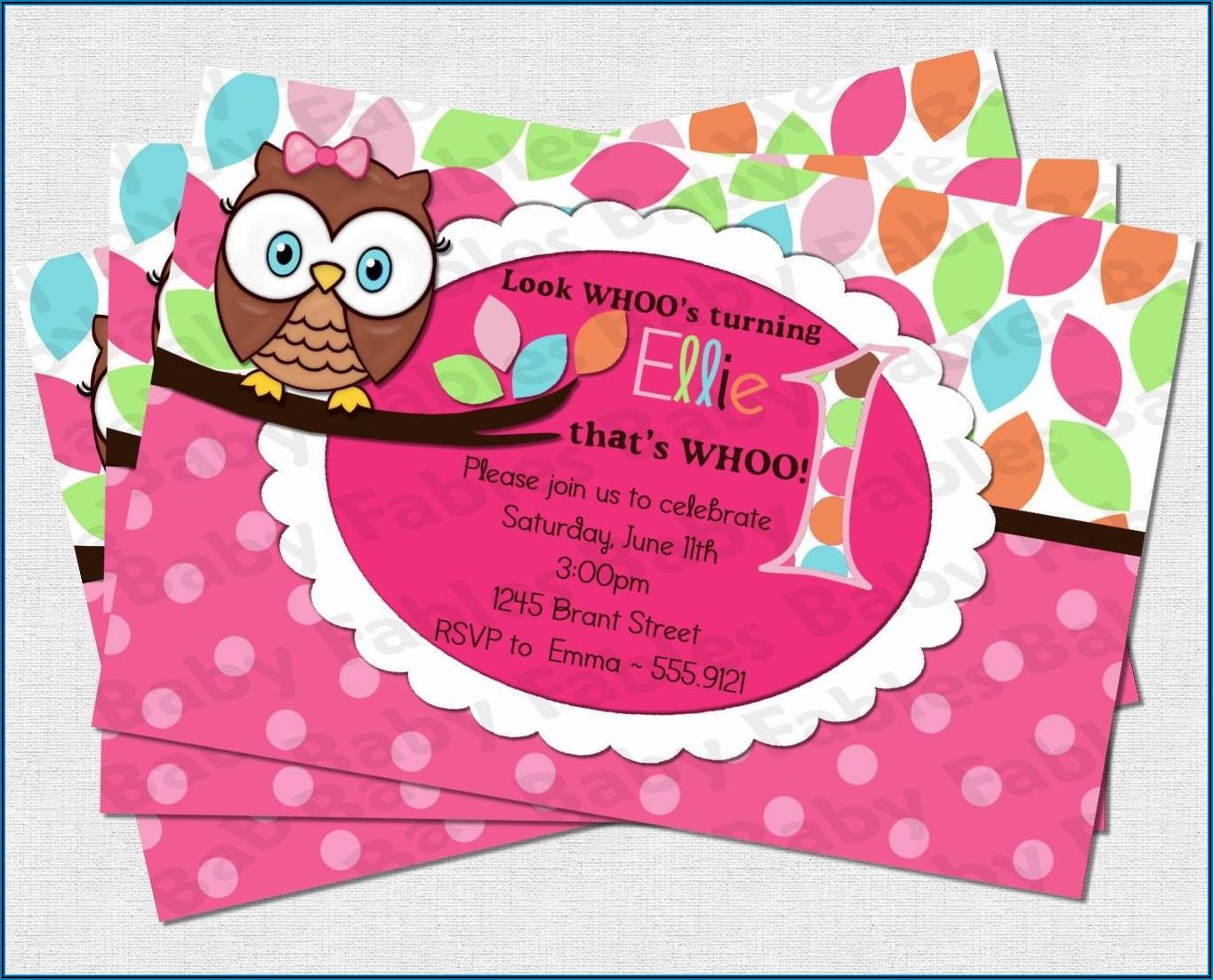 Free Printable Owl Birthday Invitation Templates