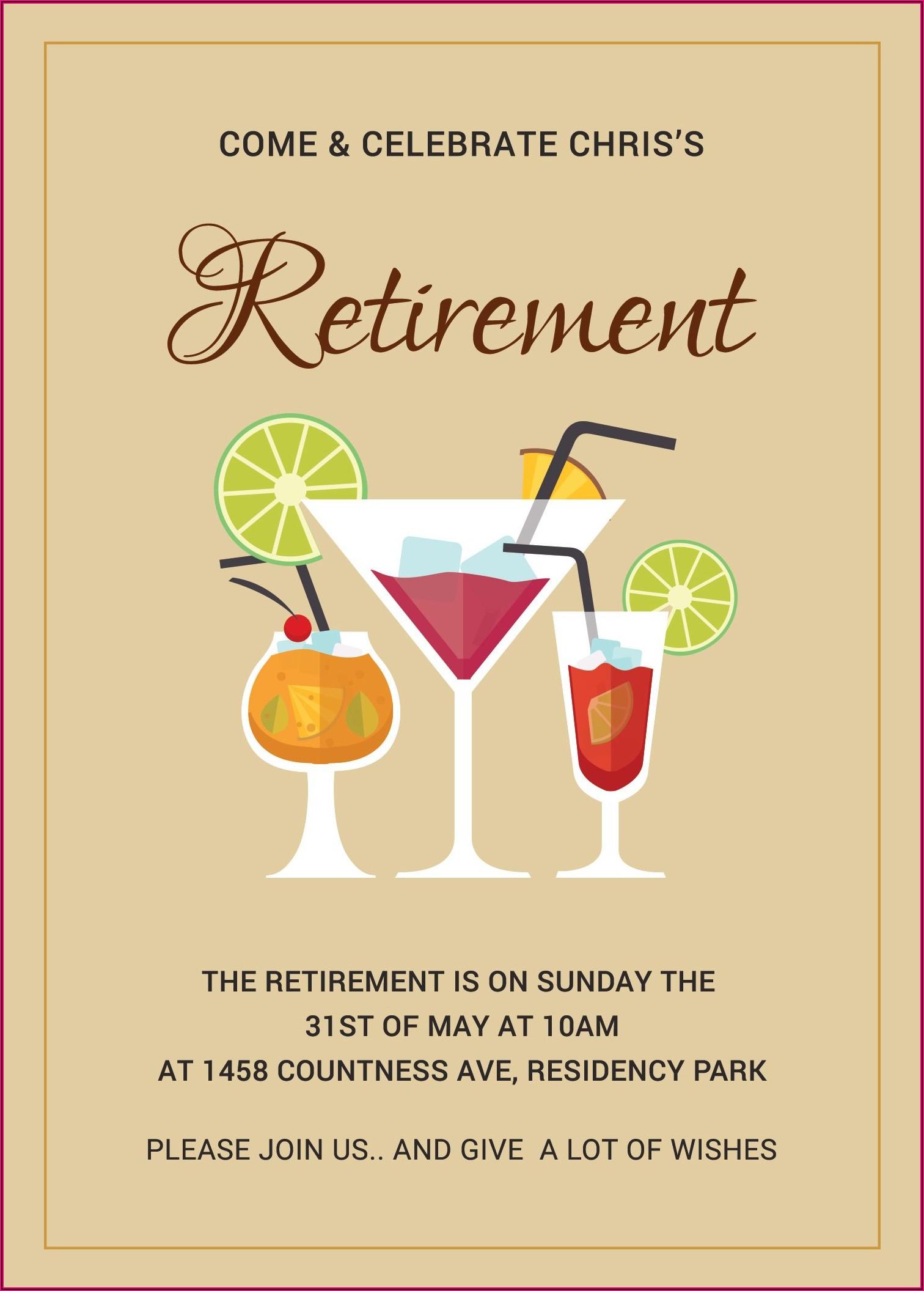 Free Printable Retirement Invitation Template