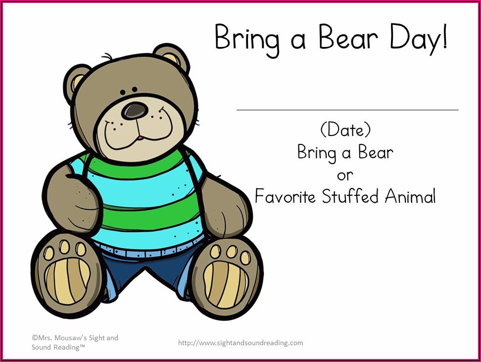 Free Printable Teddy Bear Picnic Invitations