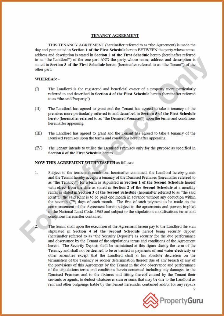 Free Printable Tenancy Agreement Template
