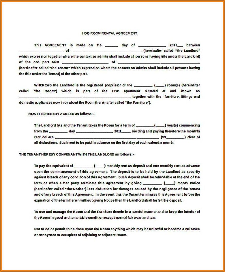 Free Room Tenancy Agreement Template