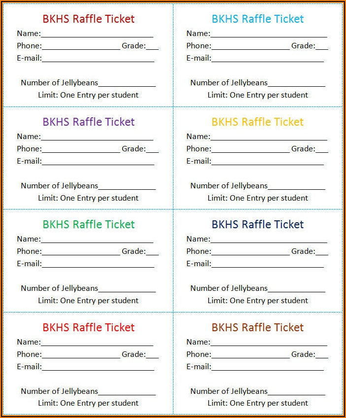 Free Templates For Diaper Raffle Tickets