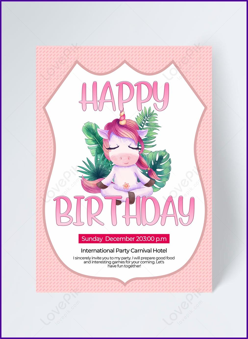 Free Unicorn Invitation Download