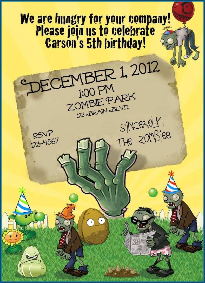 Free Zombie Birthday Invitation Template