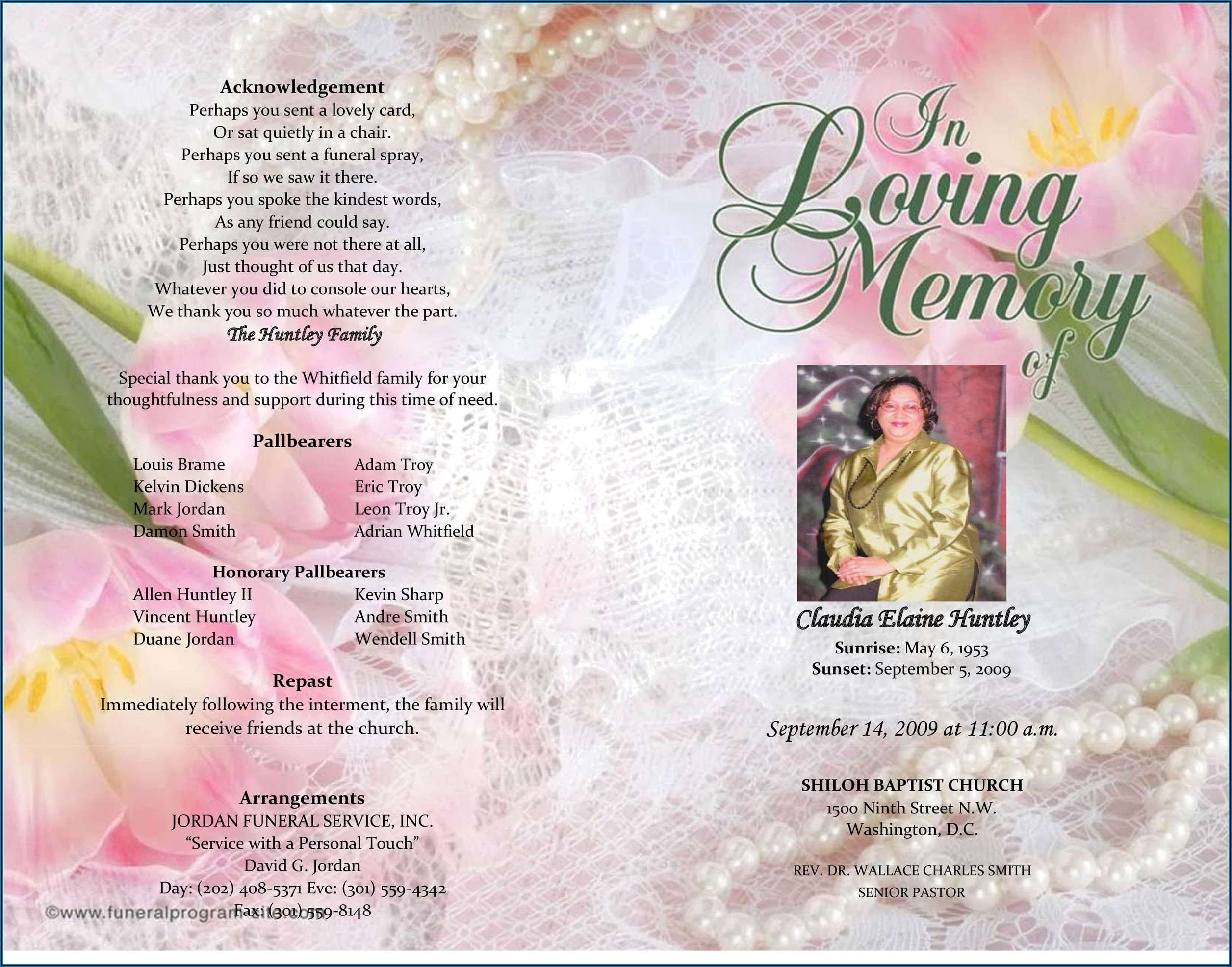 Funeral Brochures Templates Free