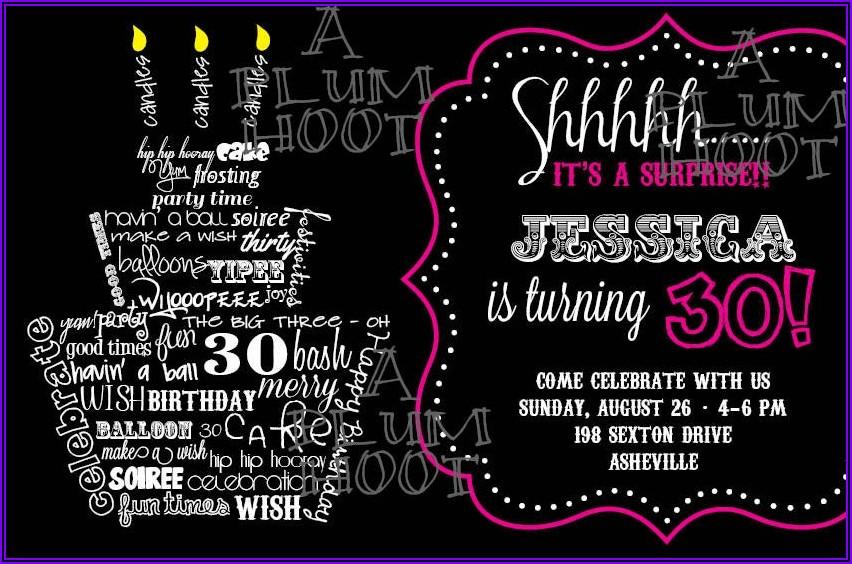 Funny 30th Birthday Invitation Wording Ideas