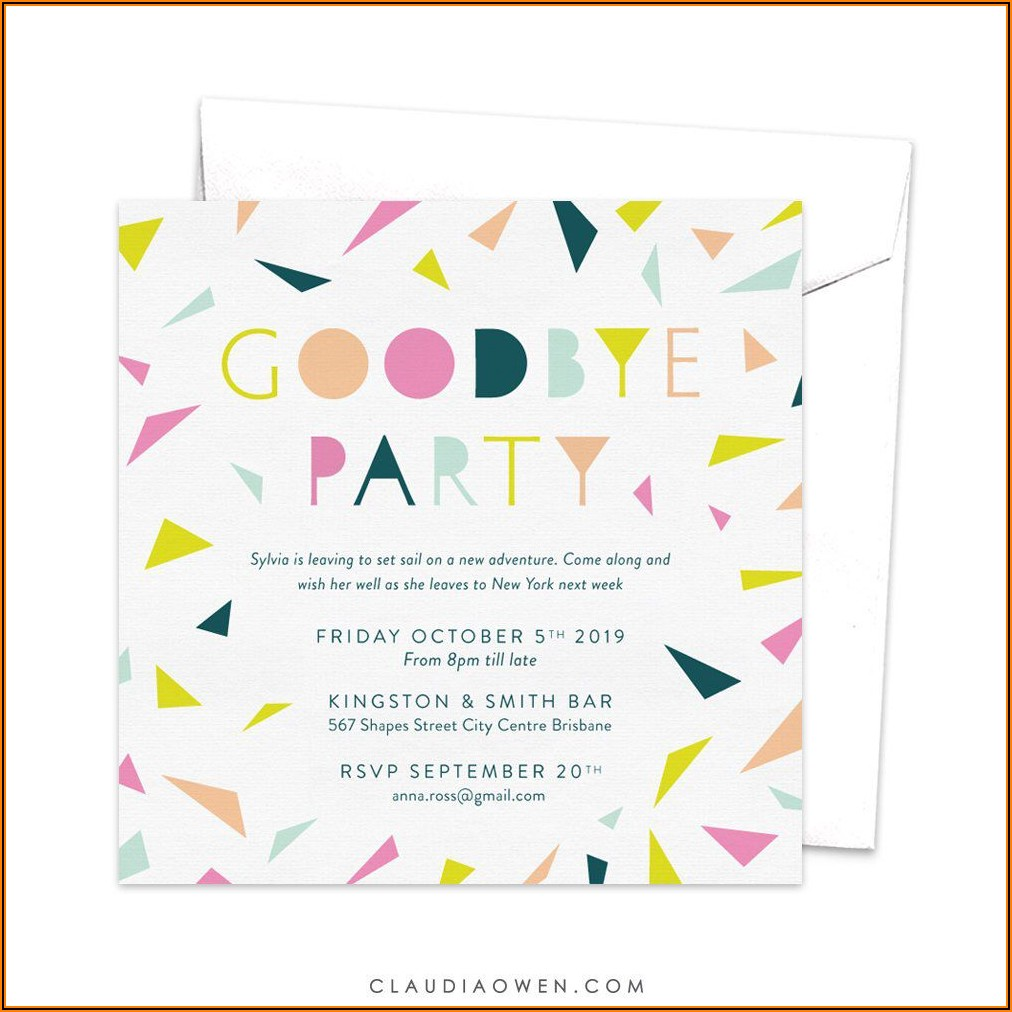 Going Away Party Invitations Free Printable