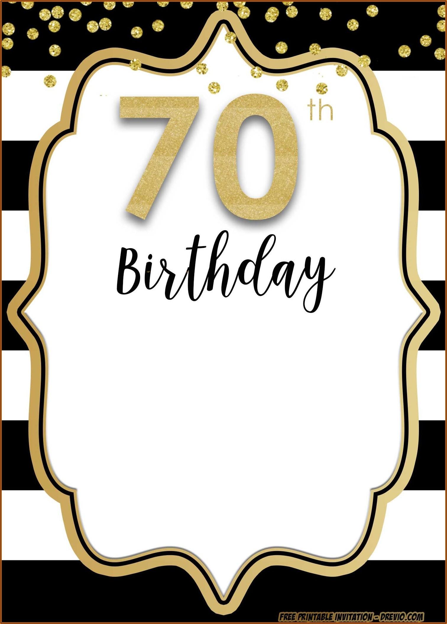 Gold Birthday Party Invitations Free Templates