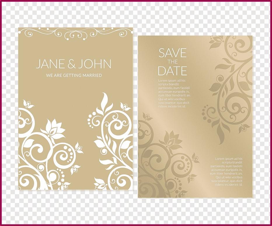 Gold Flower Wedding Invitations