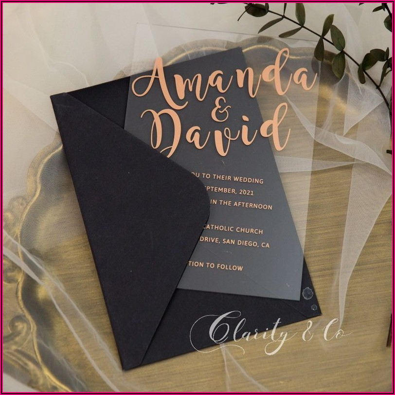 Gold Rose Wedding Invitations