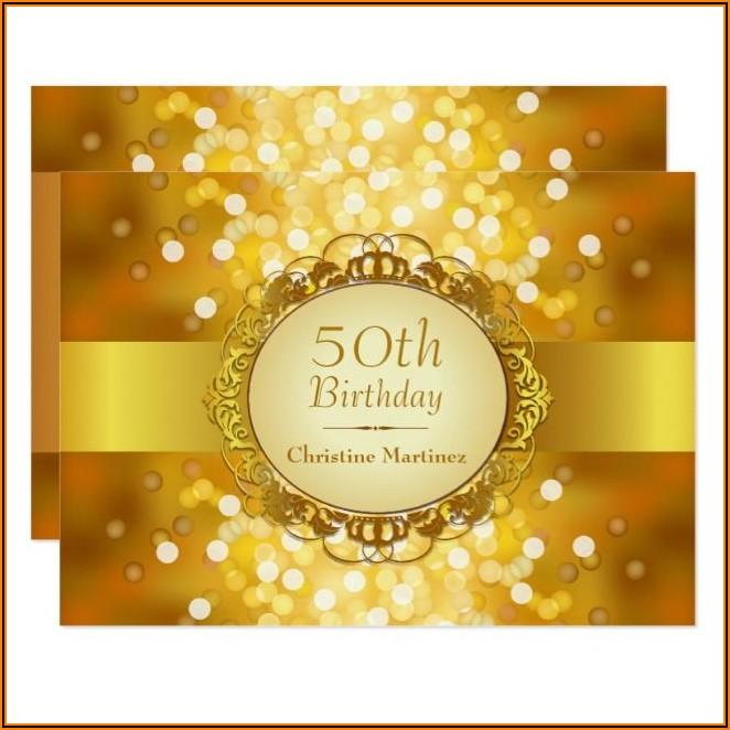 Golden Birthday Party Invitations