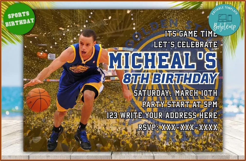 Golden State Birthday Invitations