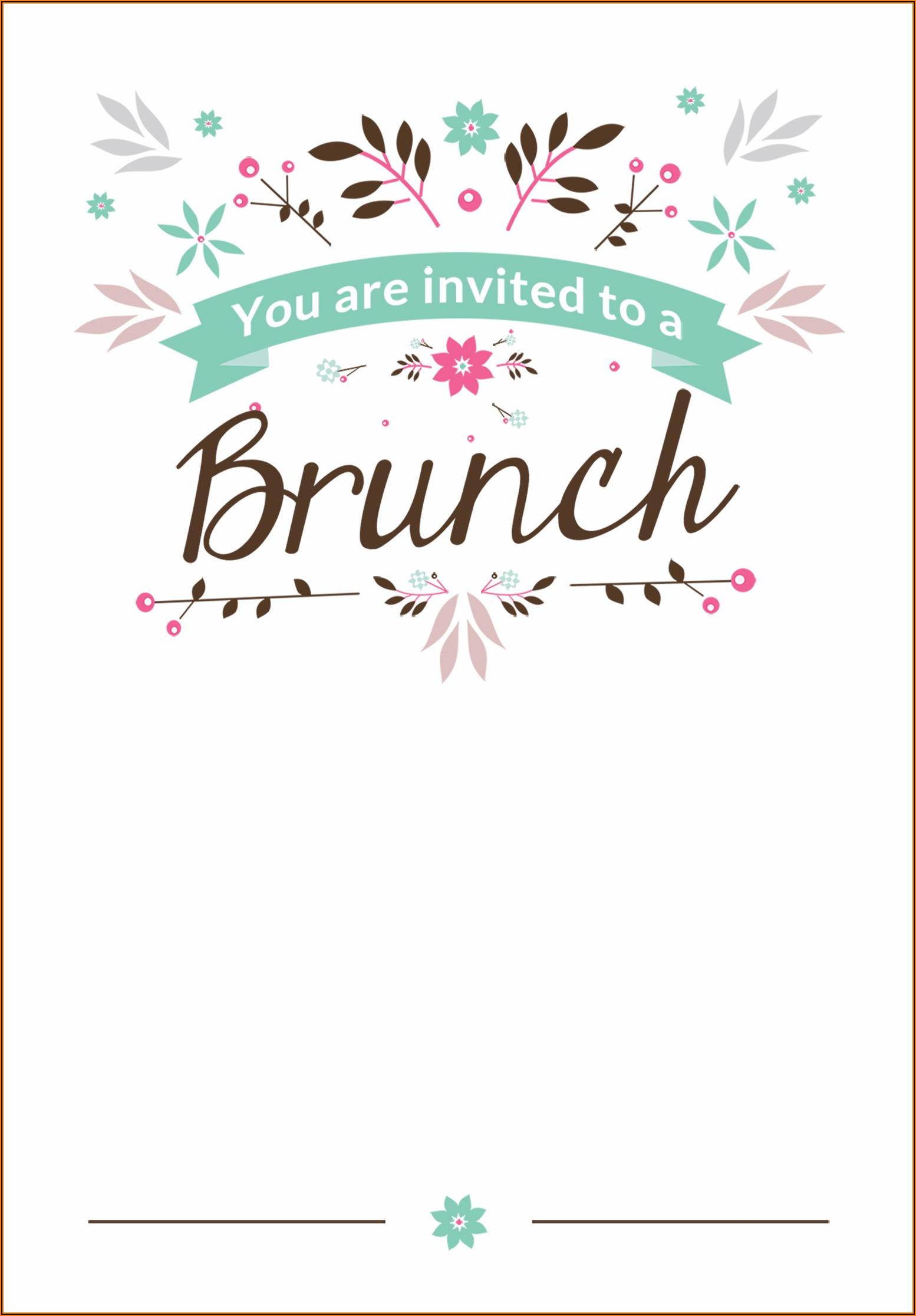 Holiday Lunch Invite Template Free
