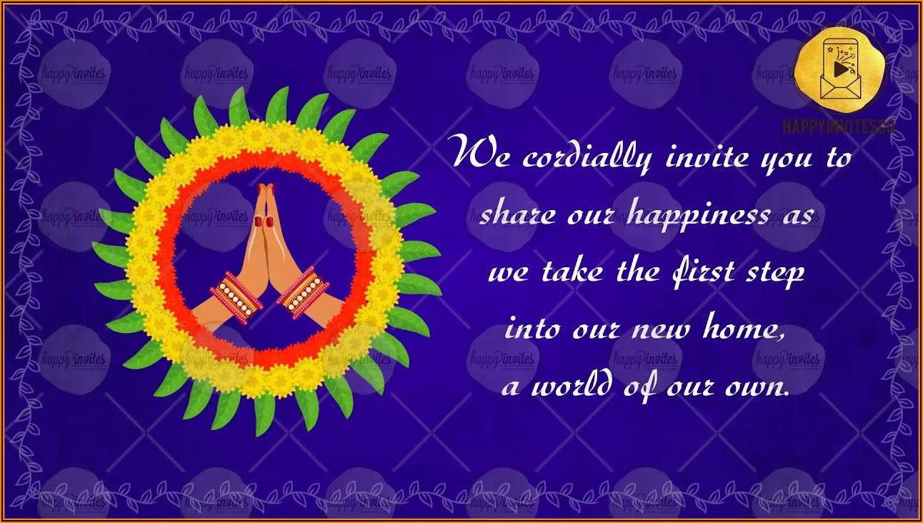 House Warming Ceremony Invitation Message In Hindi