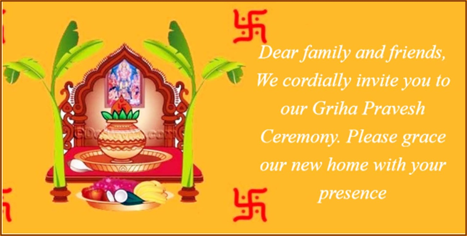 House Warming Invitation Message In Hindi