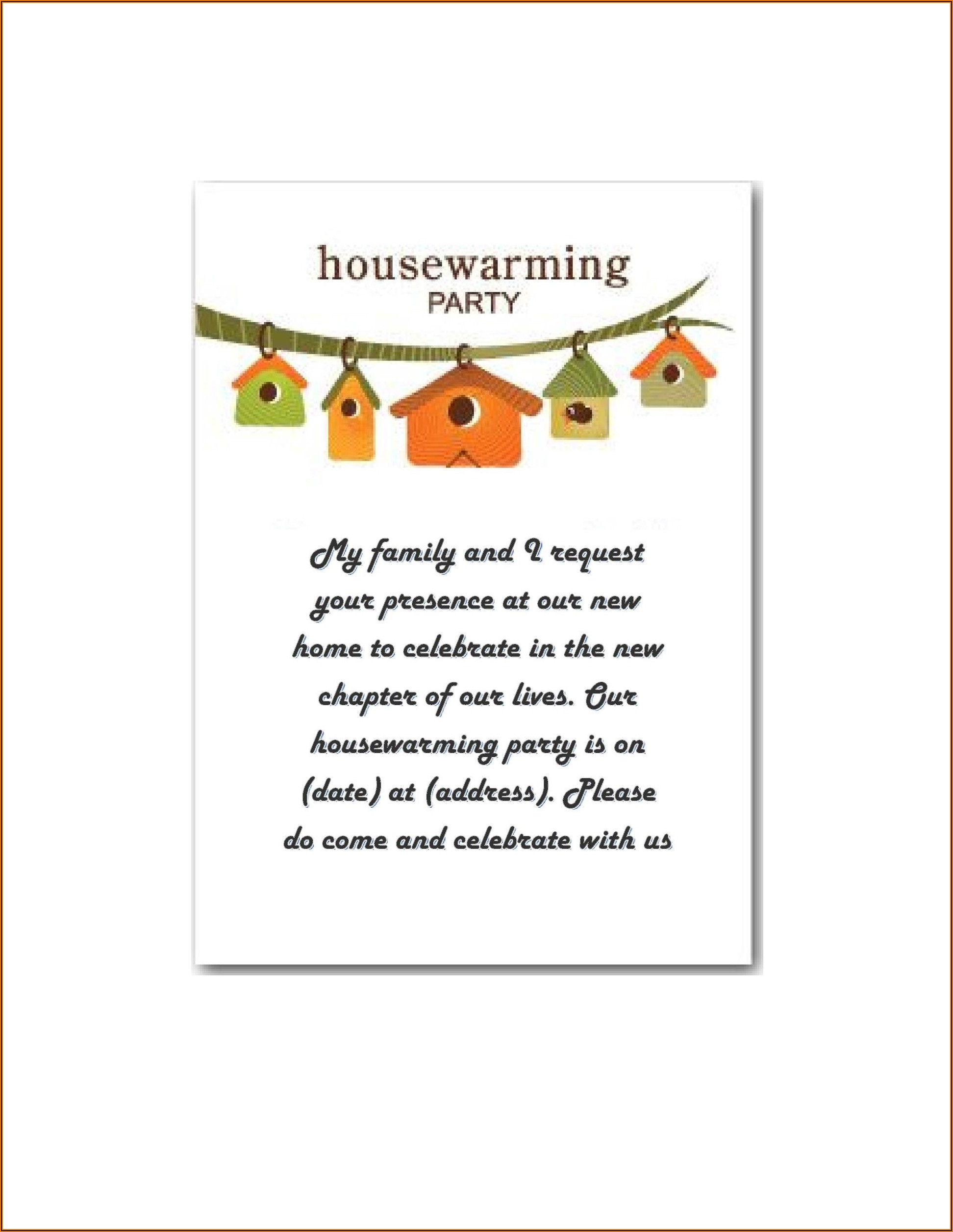 House Warming Invitation Message Indian