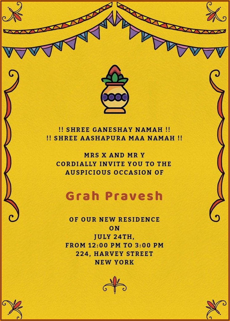 Housewarming Invitation Wording In Telugu