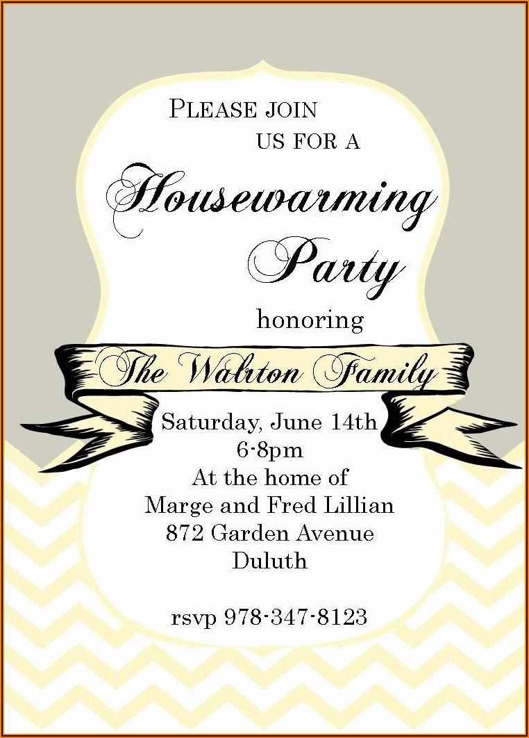 Housewarming Invitation Wordings In English
