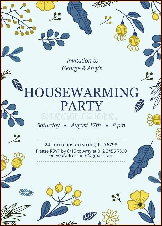Housewarming Invites Templates