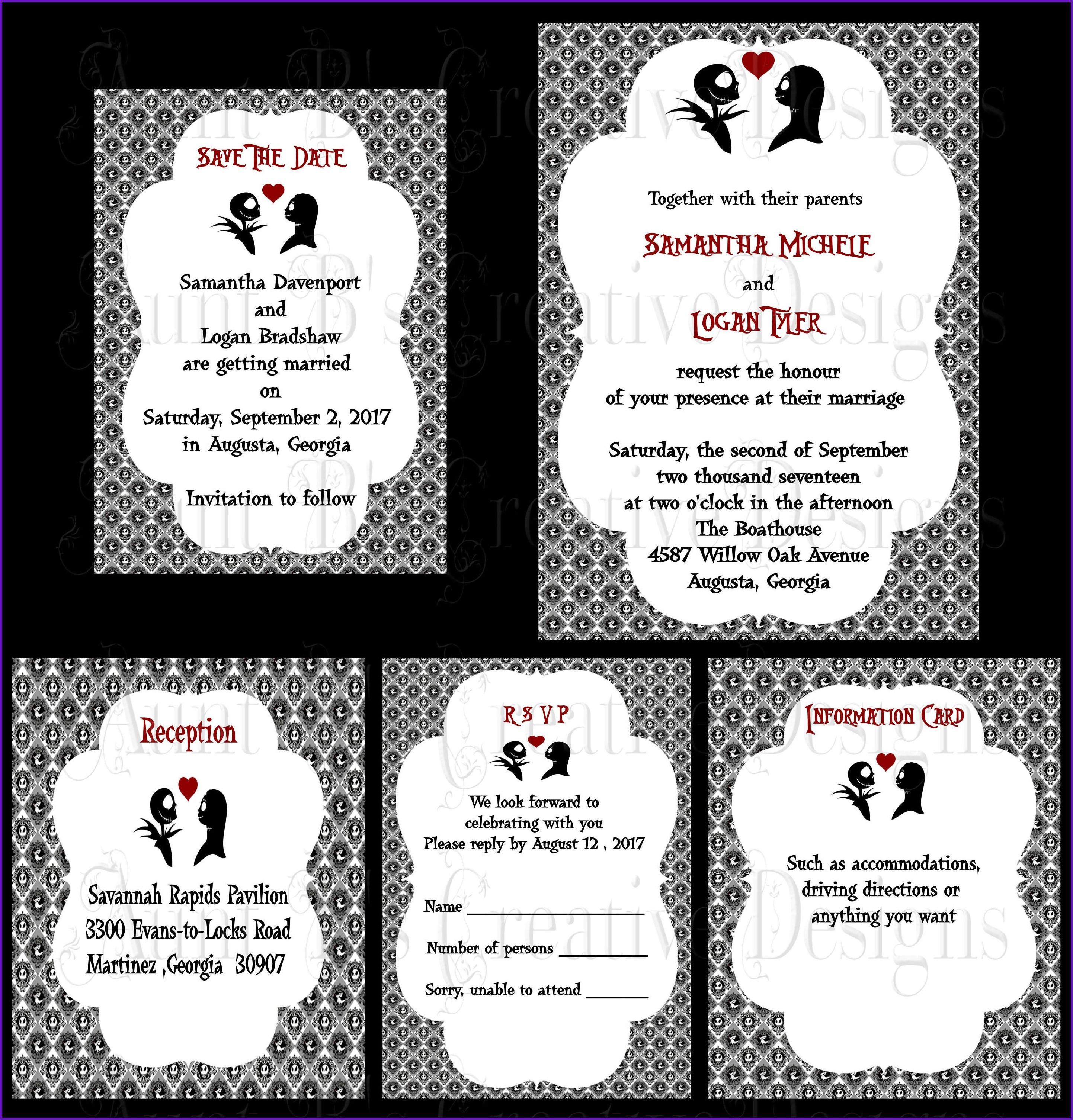 How To Make Nightmare Before Christmas Wedding Invitations