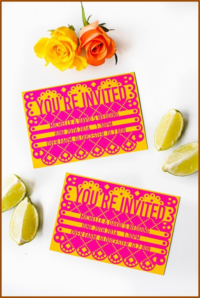 How To Make Papel Picado Invitations With Cricut