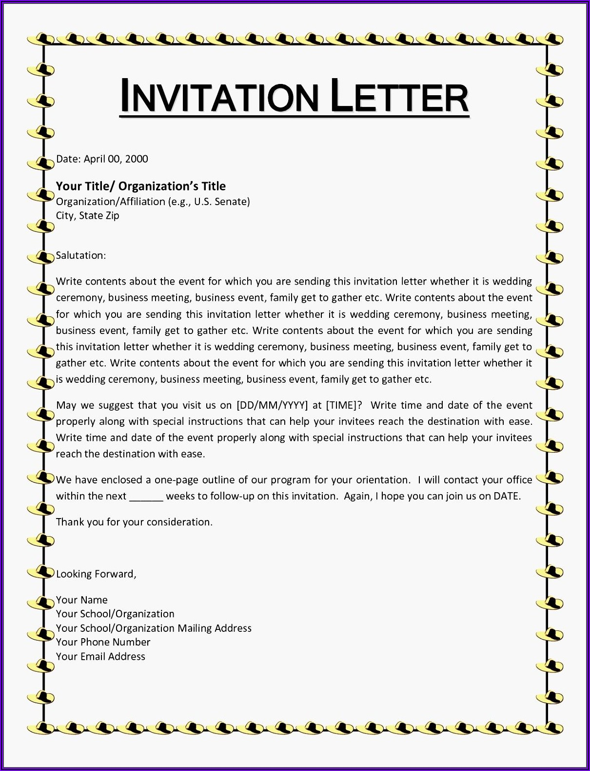 Informal Lunch Invitation Message