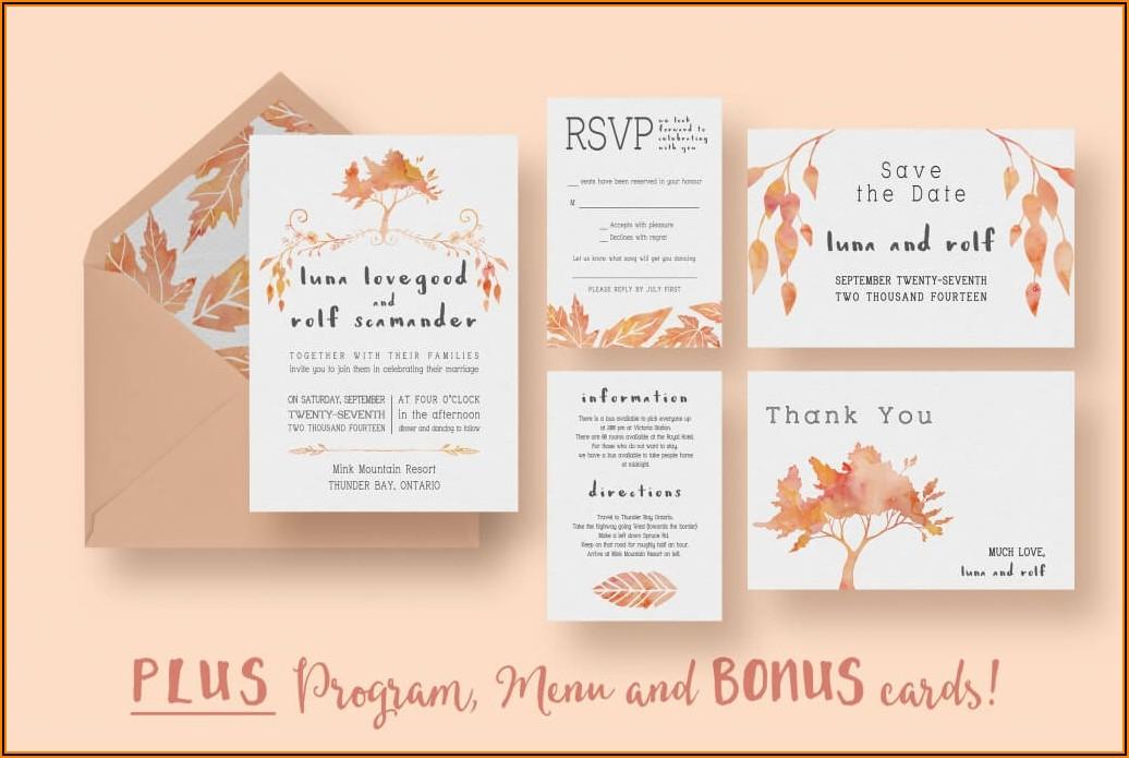 Informal Wedding Invitation Sample
