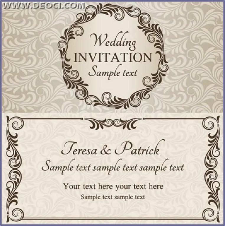 Invitation Cards Templates Free